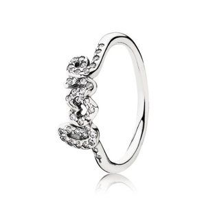 🐶Pandora Love Silver Ring With Cubic Zirconia